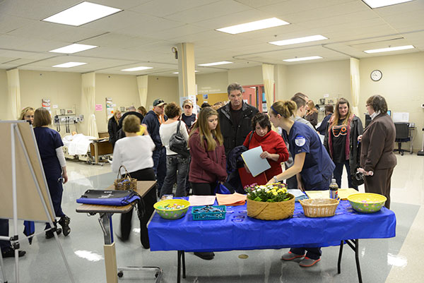The bustle in the nursing lab was echoed across campus, as visitors sought out information about their academic majors of interest.