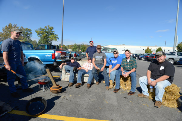The tailgating members of the Penn College Diesel Performance Club.