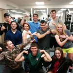 Power lifting contestants show the fun side of competition.