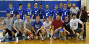 Wildcat volleyball team gathers with alumni challengers in Bardo Gym