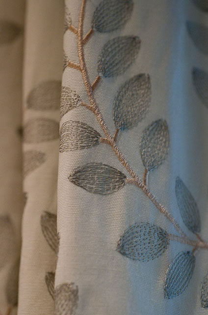 Textured window treatments, inspired by flora
