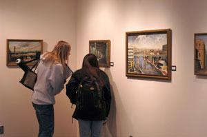 Students attend Feb. 22 exhibit opening