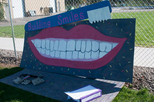 The Student American Dental Hygienists' Association took second prize for its Homecoming 'float.'