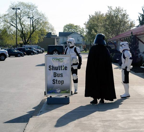 Far, far away from its intergalactic roots, the Dark Side is forced to rely on more earthbound transport.