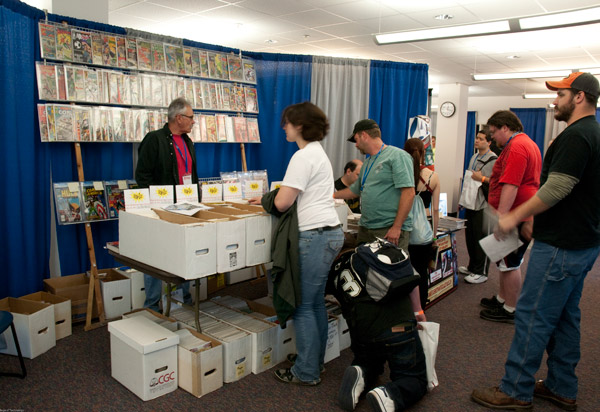 A Hall of Merchants and Artists' Alley attracted shoppers in the SASC.