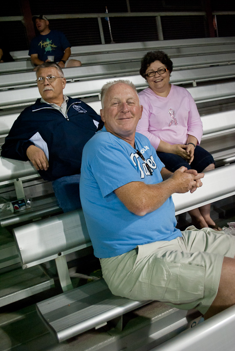 Ruth R. Brewer, part-time clerk at the Bush Campus Center information desk, takes in the ballgame with husband (and former Lycoming County sheriff) Charles T.