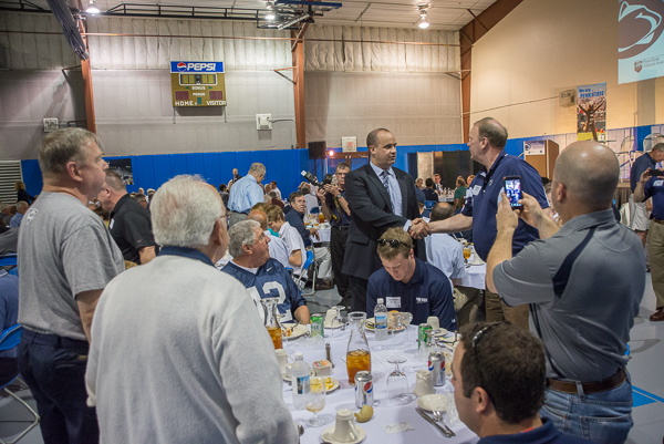 The blue-and-white faithful were among the guests for Tuesday's meet-and-greet.
