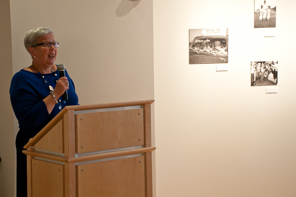 Penn College President Davie Jane Gilmour, chair of the Little League Baseball Inc. Board of Directors, welcomes guests.