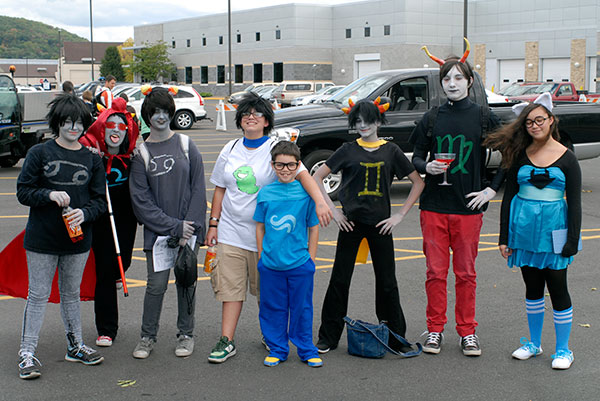 "Fans of the ""Homestuck"" webcomic dress the part (and oblige a photographer)."