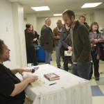 Lanier hosts a well-attended post-event book signing.
