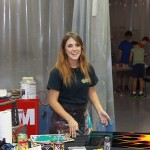 Jillian Rossi's ready smile reflects an artist's love for her work.