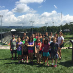Campers gather on the hill overlooking Howard J. Lamade Stadium, site of next month's Little League Baseball World Series.