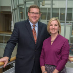 Elliott Strickland, chief student affairs officer, and Carolyn R. Strickland, vice president for enrollment management/associate provost, have established the Strickland Family Scholarship for Outstanding Leadership and Service at Penn College.