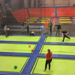 ... on trampolines that add a new dimension to dodgeball.