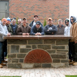 An impressive community project is celebrated with a photo op.