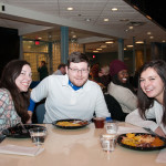 Enjoying the Soul Food Dinner are (from left) Veronica J. Grimes, a legal assistant-paralegal studies major from Williamsport; Benjamin L. Thayer, a residential construction technology and management student from Hampton, N.J.; and Meagan L. Dosch, of Aspers, enrolled in business administration: marketing concentration.