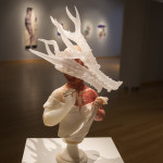"Tales of transformation include ""Septimo Vitae,"" a mixed-media piece of alabaster, artist's blood, silver and clear crystal."