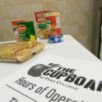 Donations help stock pantry shelves.