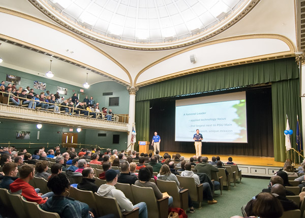 General information sessions in the Klump Academic Center Auditorium are a one-stop source of intel on admissions, financial aid and campus life.