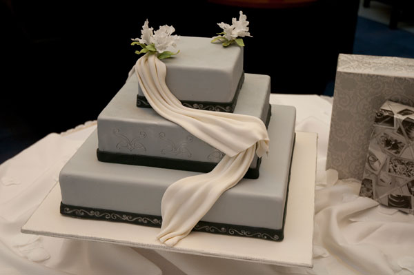 The draping on this cake, Steps to Eternal Love, an honorable mention created by Abigail L. Schuler, of Waynesboro, takes cues from a wedding dresss train.