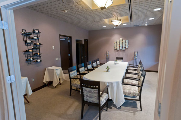 Le Jeune Chef's private dining room offers both respite from  and windows on  the outside world.